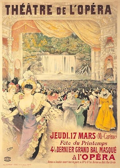 Amazon.com: Theatre de l Opera - 4e Bal Masque Vintage Poster ...