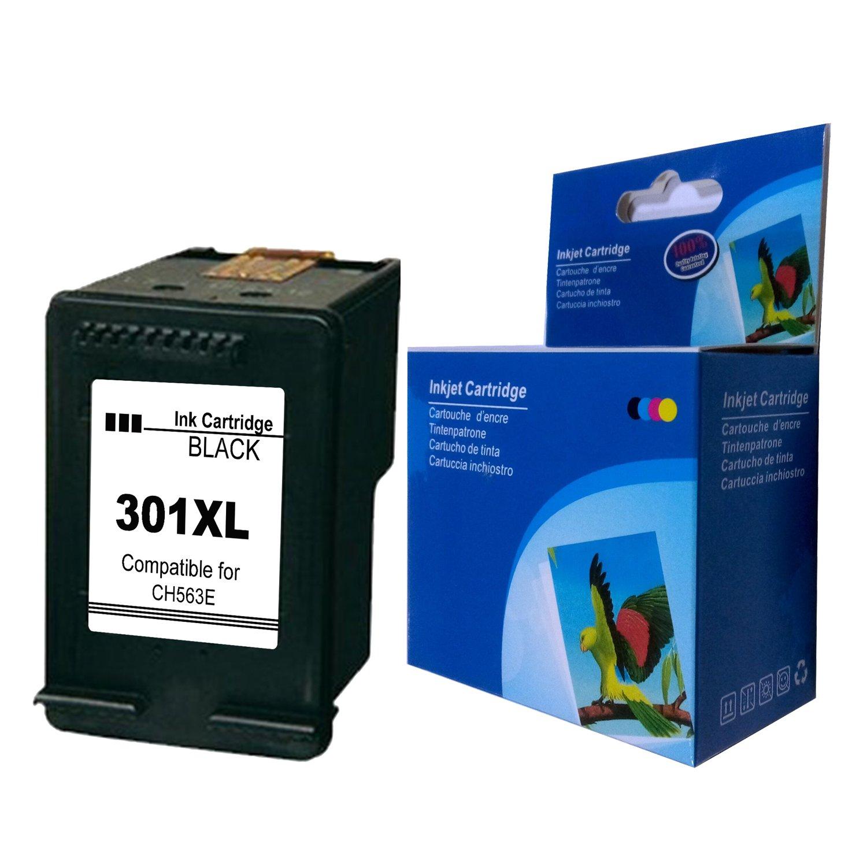 1 Negro, 1 Tricolor Ksera Reconstruido HP 301 XL HP 301 Cartuchos de Tinta de Alto Rendimiento Paquete de 2 Compatible con HP Deskjet 1000 1010 1050 2000 2050 2540 HP Envy 4500 4502 4504 4505 4507