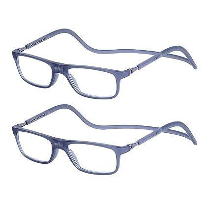 af027ecf7b 2-Pack Gafas de Lectura Magnéticas Plegables para Hombre y Mujer +2.0 (55