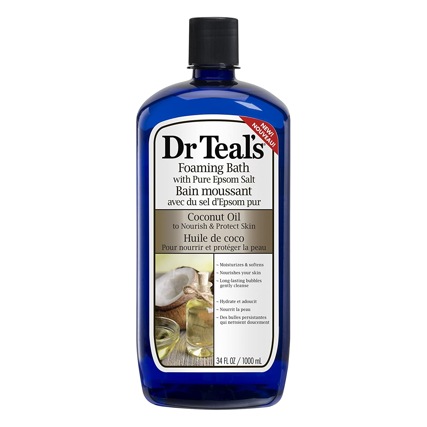 Dr Teal's Coconut oil foaming bath, 1000 L Dr Teal' s SHOMAMS1015
