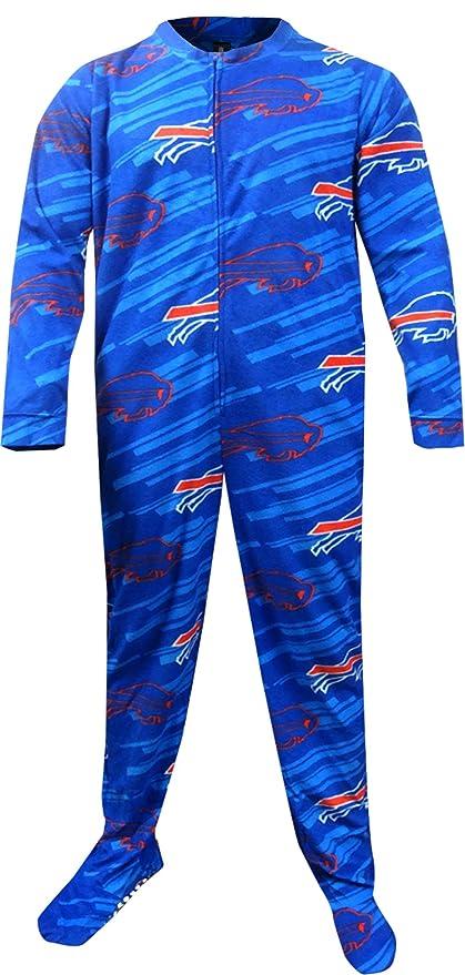 Buffalo Bills azul Onesie Footie pijama para hombre - FCS0502L, Azul