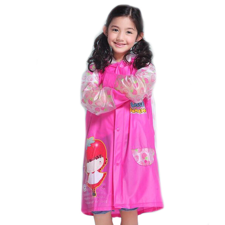 ES-UK Kids Boys & Girls Raincoat Yellow - Blue - Pink Age 3-9 Years