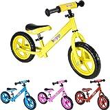 Boppi No Pedal BMX Yellow Balance Bike for kids