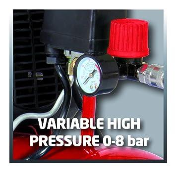 Einhell Compresor lubrificato a Aceite TC-AC 190/24/8 - 1,5 KW 8 bar (con manómetro de ajuste) 160 Lt/min 24 L: Amazon.es: Bricolaje y herramientas