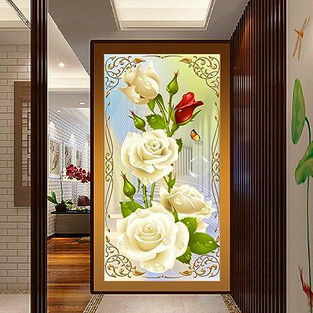 Demiawaking 5D Diamond DIY Schöne Blume Stickerei Malerei Kreuzstich Für  Wohnzimmer, Schlafzimmer, Arbeitszimmer Usw. Haus Dekor