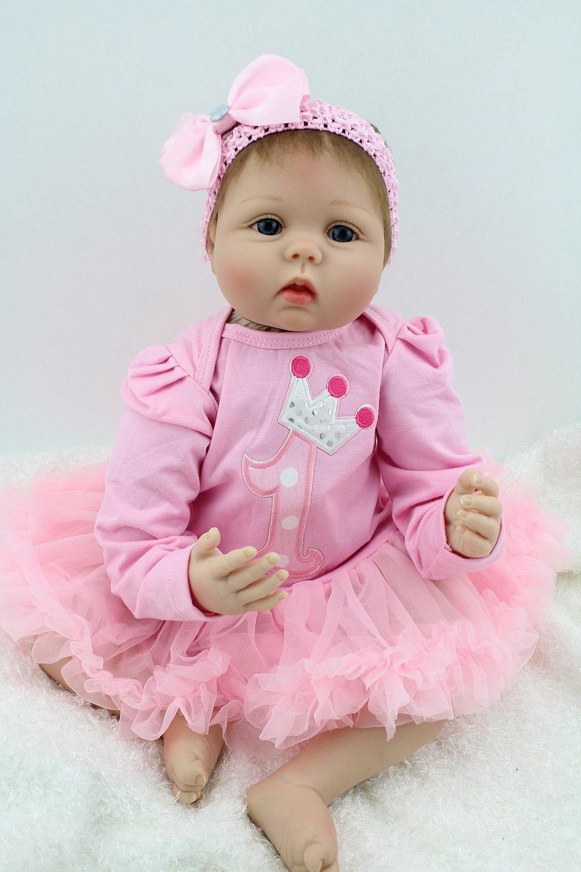 55CM Rebirth Baby Silicone Doll Live Rebirth Realizzato A Mano Intero Corpo Bambola di Plastica Giocattolo Ragazza Compleanno