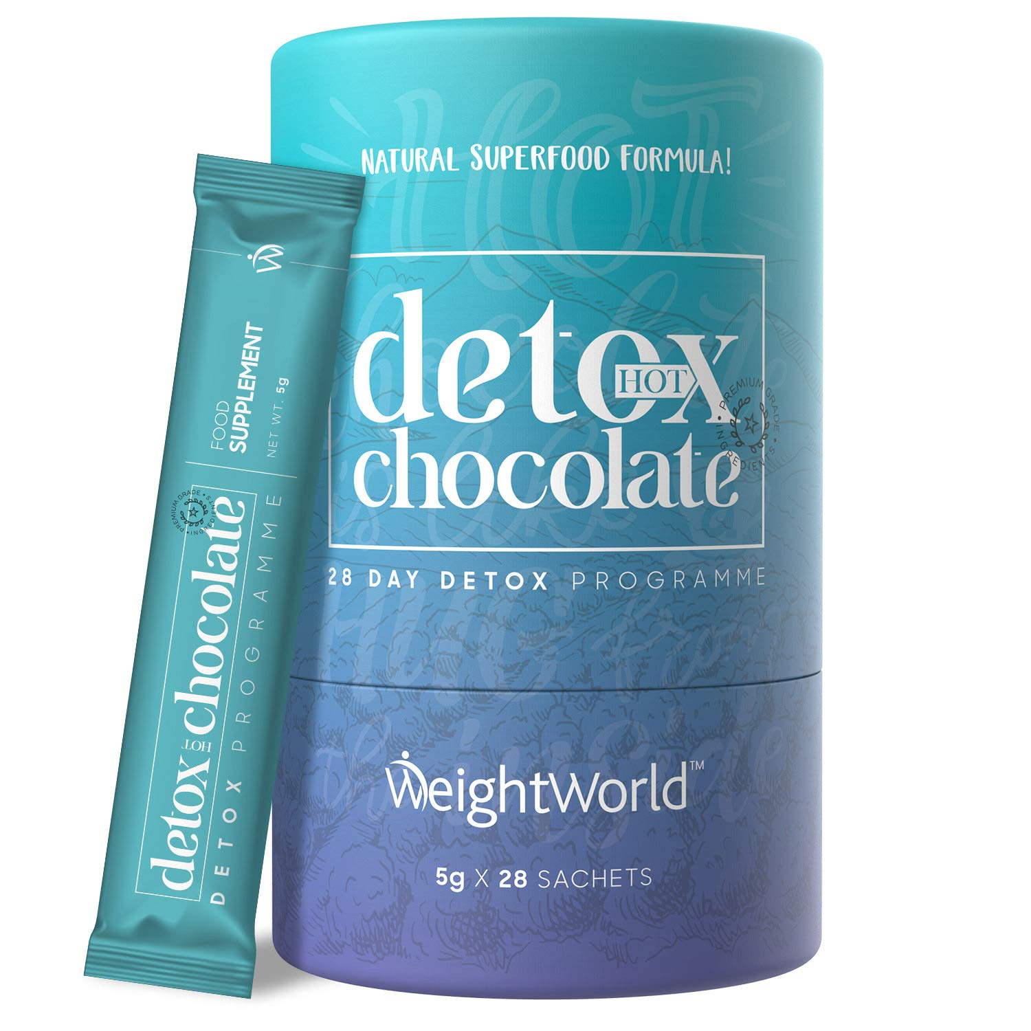 Detox Hot Chocolate Natural Cleanse Powder Drink Diet
