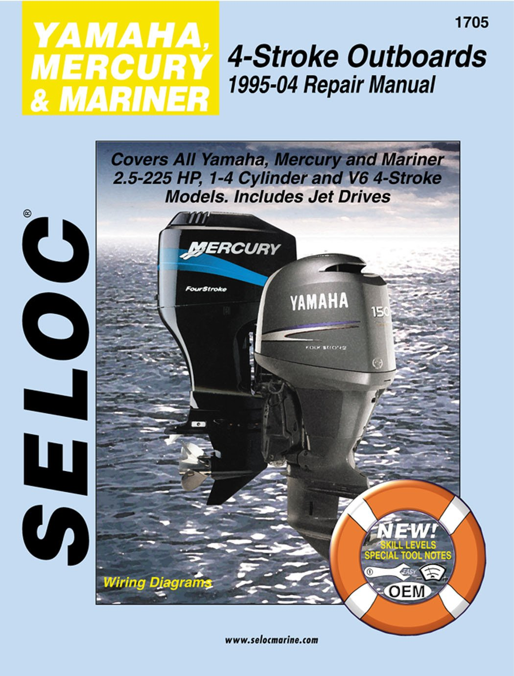 Amazon.com : Sierra International Seloc Manual 18-01705 Yamaha Mercury &  Mariner Outboards Repair 1995-2004 2.5-225 HP 1-4 Cylinder & V6 4 Stroke  Model ...
