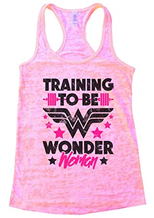 9218527f10bb1 Womens Workout Tank Top -  Training to Be Wonder Woman quot  Super Power -  Funny