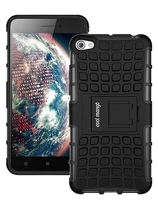 huge discount bd9c1 ba6bc Lenovo S60 Protective Back Cover / Case : Cool Mango Premium Dual Layer  Armor Protection Case Cover with Kickstand for Lenovo S60 - Black