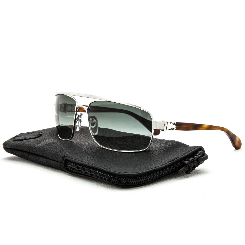 Chrome Hearts Sonnenbrillen PENETRATION SILVER HAVANA/GREY Herrenbrillen kDPzEk