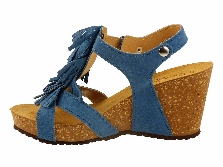 COCO ABRICOT Damen Sandalen Blau Blau Blau 287dcf