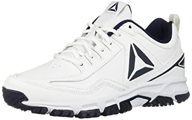 139e832623f Reebok Men s Ridgerider Leather 4E Sneaker White coll.