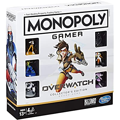 Monopoly Gamer Overwatch Collector's Edition Board Game for Ages 13 and Up Gift for Overwatch Players: Toys & Games