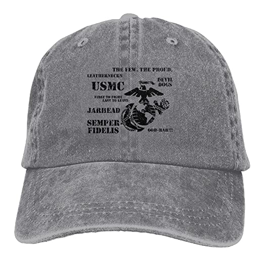 cc521608892 UCOOLE Semper Fi US Marine Corps Dad Hat Adjustable Denim Hat Classic Baseball  Cap at Amazon Men s Clothing store