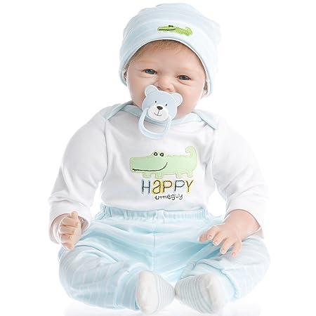 Review SanyDoll Reborn Baby Doll vinyl 22inch 55cm Lovely Lifelike Cute Baby Birthday