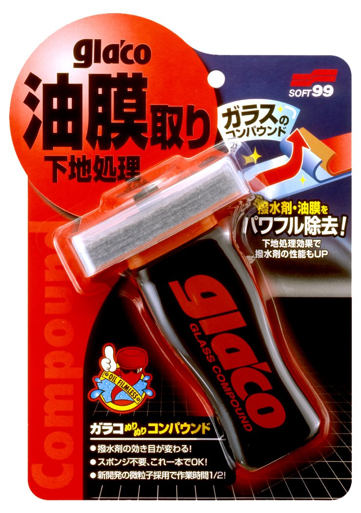Soft99 Glaco Glass Compound Roll On 100 ml 04101