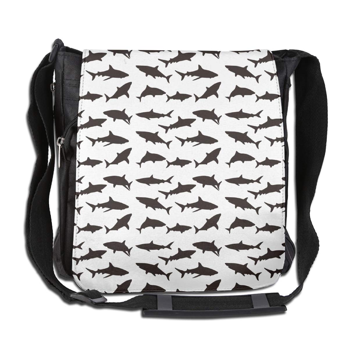 White Shark Fashion Diagonal Single Shoulder Workout Bag