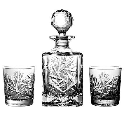 Julia 2117 - Set de Botella y 6 Vasos de Whisky (Cristal de Bohemia,