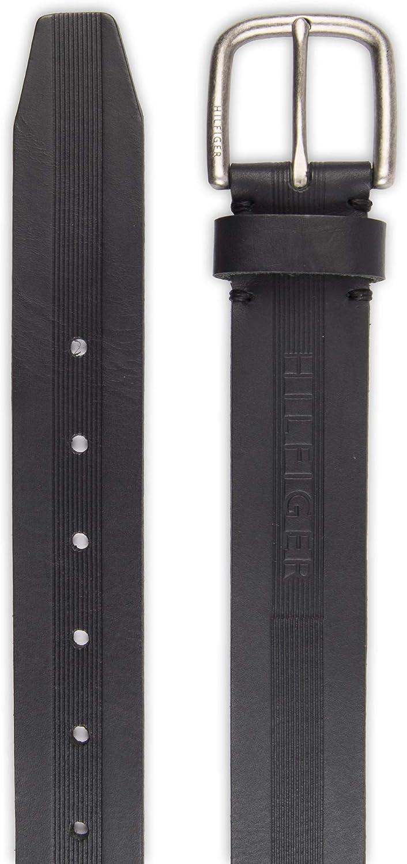 36-38 Medium black emboss Tommy Hilfiger Mens Casual Belt