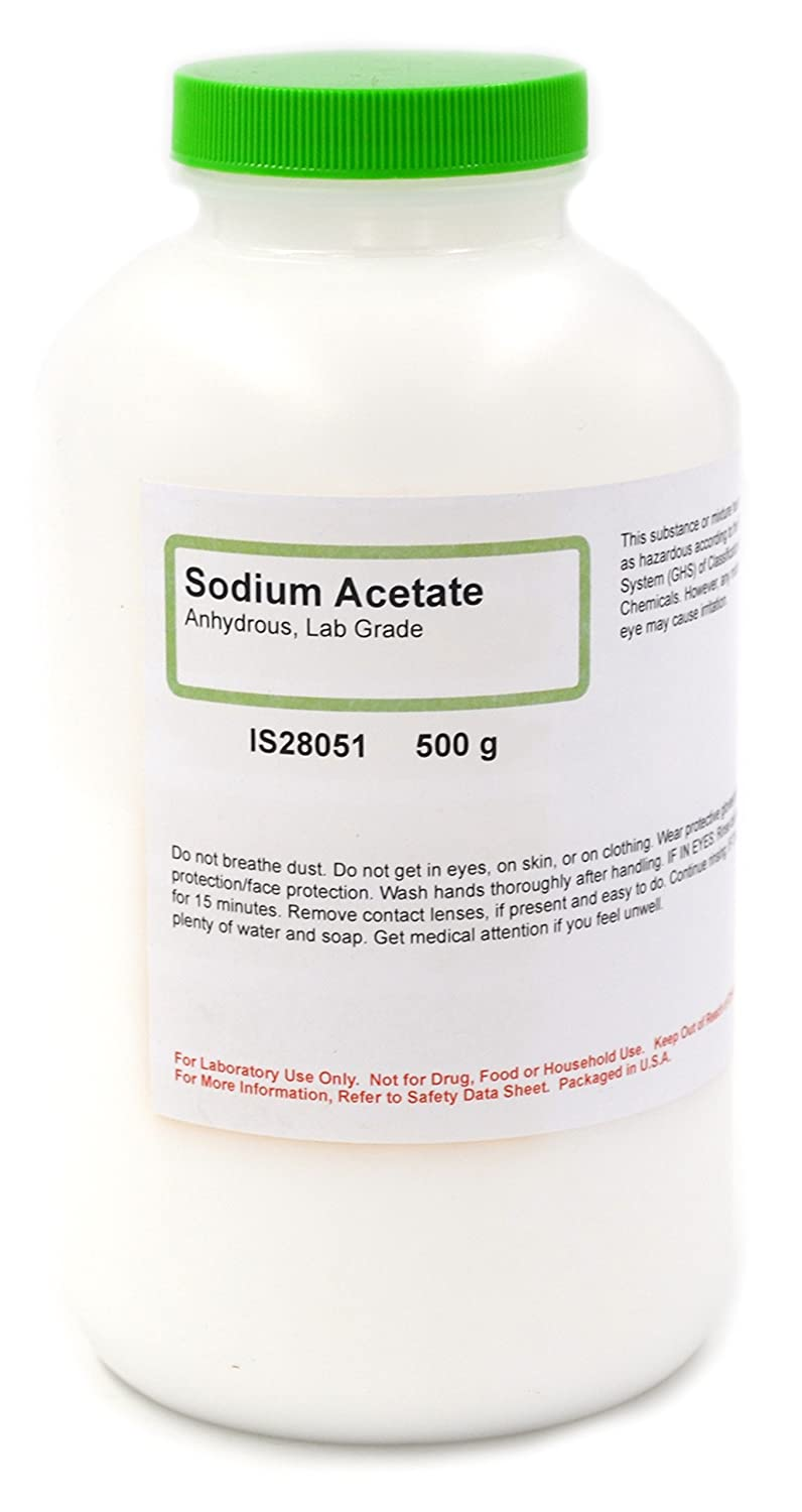 Lab-Grade Anhydrous Sodium Acetate, 500g - The Curated Chemical Collection