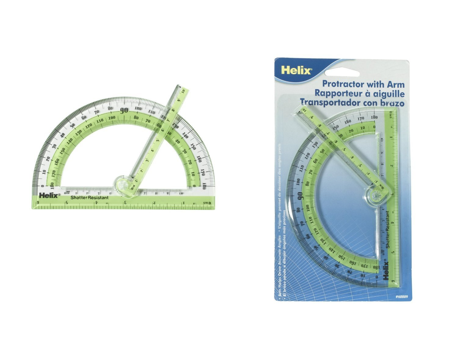 6 Pack 6 Swing Arm Protractor (Product Catalog: Tools) by Helix Group PLC (Image #1)