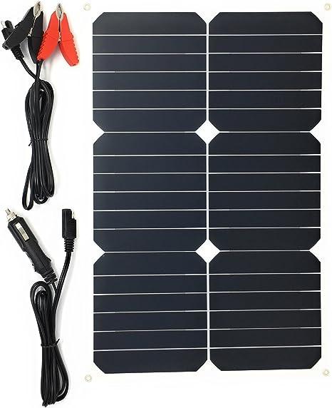 Giaride Solar Autobatterie Ladegerät 18v 18w Tragbar Solarpanel Maintainer Solarladegerät Für Auto Boot Rv Traktor Motorrad Automobil 12v Batterien Auto