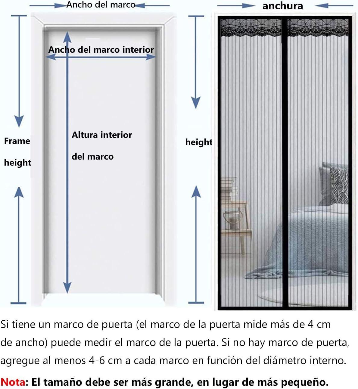 Mosquitera Magnética para Puertas Fácil de ensamblar, Mosquitera Puerta Magnetica Cortina de Sala de Estar la Puerta del Balcón Puerta Corredera de Patio: Amazon.es: Bricolaje y herramientas