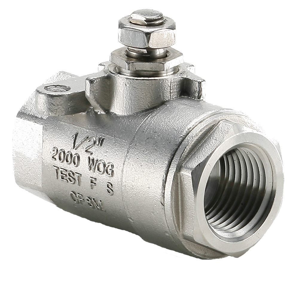 1//2 Pack of 10 Pack of 10 Female Pipe Panel Mount Parker V502SS-8-SUB-pk10 Industrial Ball Valve CF-8M Stainless Steel Female Pipe Ends 1//2