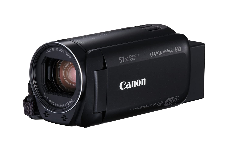 Canon LEGRIA HF R86 - Videocámara de 16 GB (Full HD, Zoom Avanzado 57x, IS Óptico Inteligente, WiFi y NFC) Negro