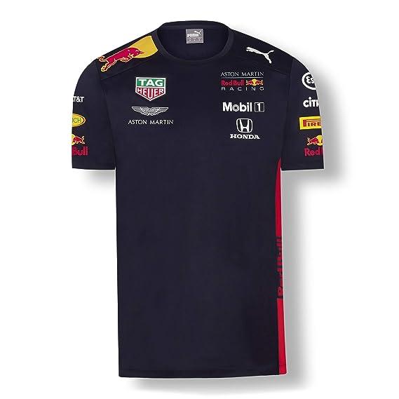 Red Bull Racing Aston Martin Team tee 2019, M Camiseta Azul Navy, Medium para Hombre