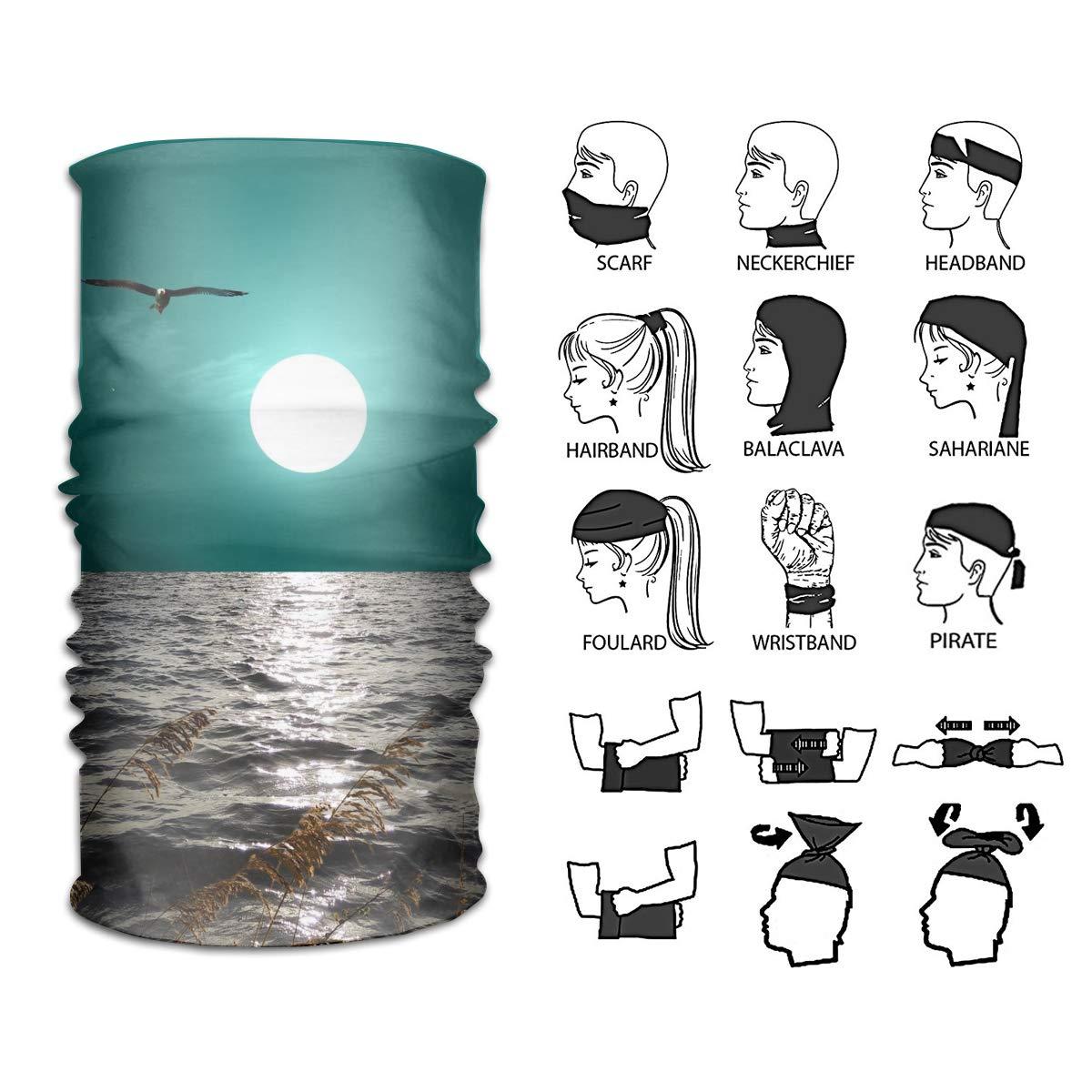 Camp Ursula Pasamontañas con diseño de Luna, pájaro y pájaro ...