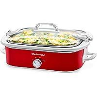 Elite Gourmet MST-5240 Casserole Crock Slow Cooker, Locking Lid Adjustable Temperature Keep Warm Oven & Dishwasher-Safe…