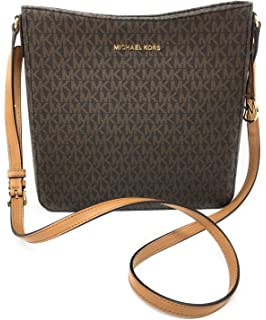 37f137135b68 Amazon.com: Michael Kors Adele Large NS Tote Brown Leather Satchel ...