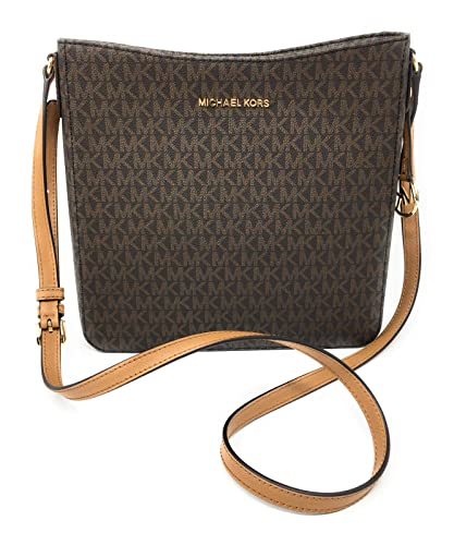 0cafee87cb39 MICHAEL Michael Kors Women's Jet Set Travel Large Messenger & Crossbody Bag  in Brown Acorn MK Signature, Style 35F8STVM7B: Amazon.co.uk: Clothing