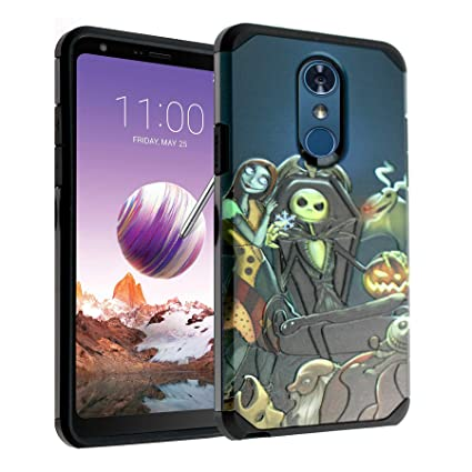 LG Stylo 4 Case, IMAGITOUCH 2-Piece Style Armor Case with Flexible Shock Absorption Case & Nightmare Before Christmas Design Cover Hybrid for LG Stylo ...