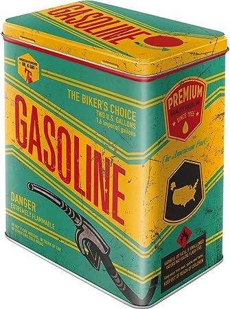 Nostalgic-Art Caja metálica de Estilo Retro - Gasoline: Amazon.es: Hogar