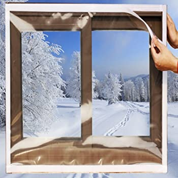 Ses Co Reusable Transparent Indoor Window Insulation Kit