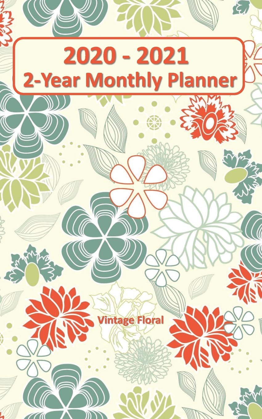 Wallet Size Calendar 2021 Amazon.com: 2020   2021 Vintage Floral 2 Year Planner 5x8: Purse