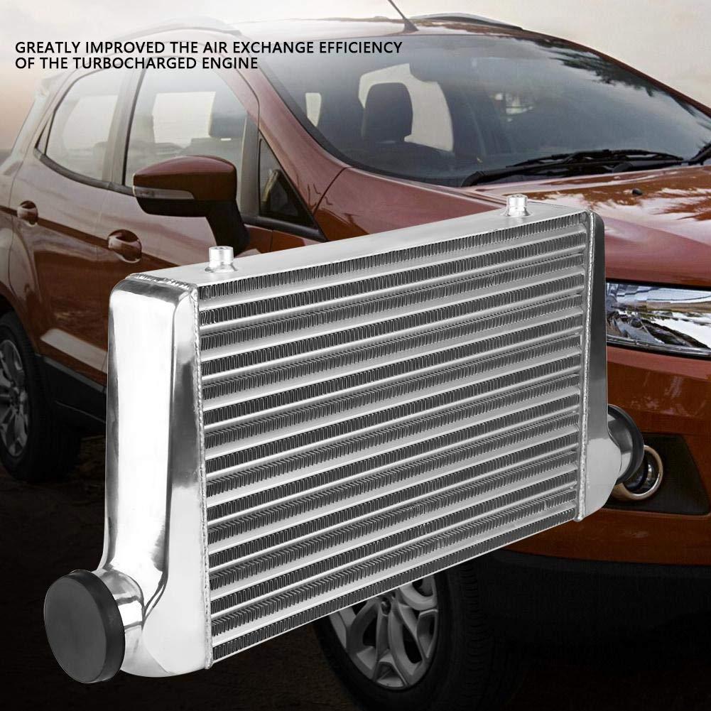 Keeno Intercooler de montaje frontal de red de refrigeraci/ón turbo de aluminio ligero para motor de coche universal