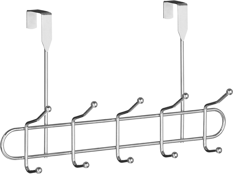 Premier Housewares - Perchero para puerta, 10 ganchos, cromo: Amazon.es: Hogar