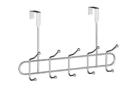 Premier Housewares - Perchero para puerta (6 ganchos), color cromo
