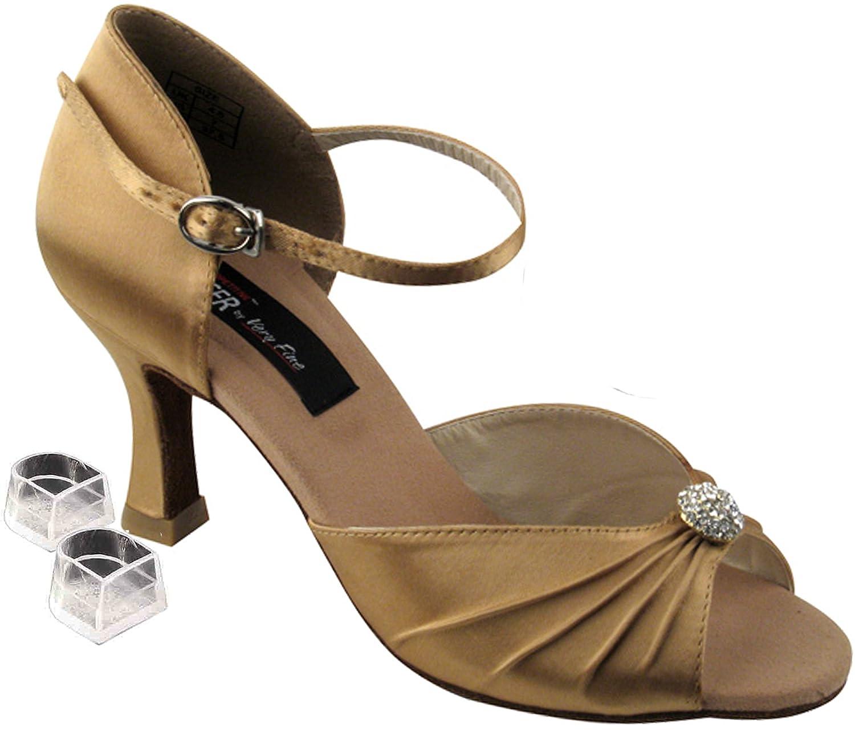 [Very Fine Shoes] レディース B00AOB5HCQ タン サテン 9.5 (B,M) US