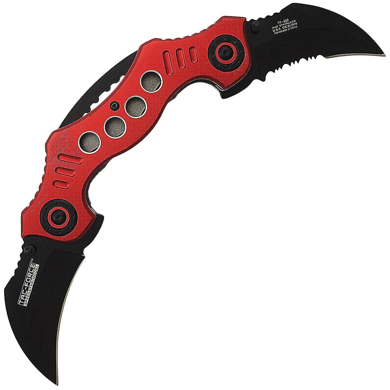 Amazon.com: Bolsillo abierto de doble cuchilla de carambot ...