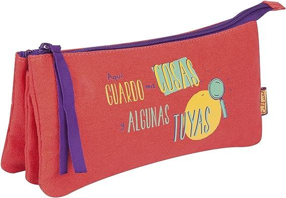 Finocam 5011508 Talkual Estuches, 23 cm, Rojo: Amazon.es: Equipaje