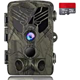 """Suntekcam Trail Camera 24MP 1080P IP66 Waterproof Game Camera for Wildlife Monitoring with 2.4"""" LCD 120° Detection…"""
