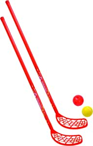 Schildkrot Funsports Kids' Fun Hockey Set (4-Piece), Yellow/Red, Medium
