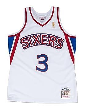Mitchell & Ness Camiseta de baloncesto de Allen Iverson, Philadelphia 76ers, camiseta auté