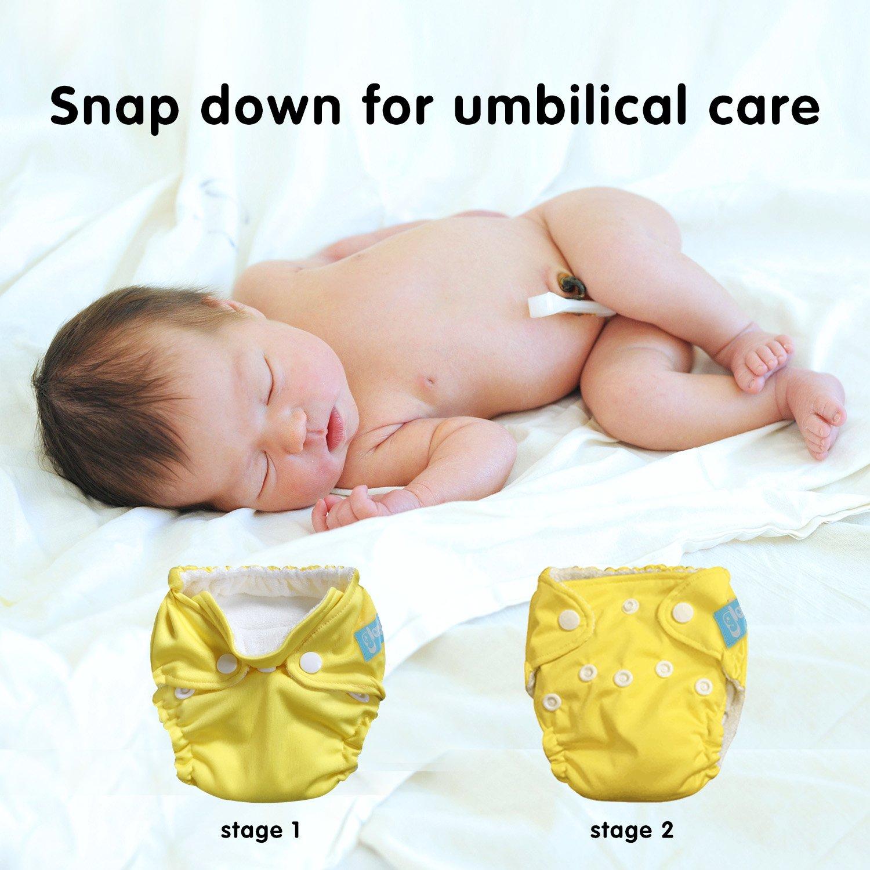 Amazon.com : Premium Organic Reusable Cloth Diapers -Set of 7 -For Full  Term & Preemie Babies -Breathable W/ Waterproof Cover -Bonus Wet & Dry  Reusable ...