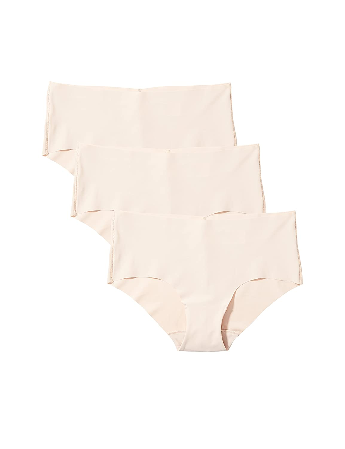 Pack of 3 Iris /& Lilly Womens Seamless Hipster Brief